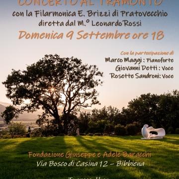 Concerto al Tramonto nel giardino della nuova sede della Fon...